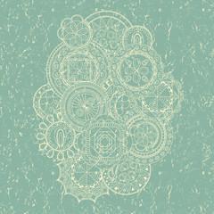 Grunge background. Hand drawn art mandalas