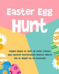 Easter egg poster design background