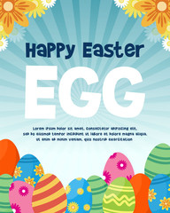 Happy easter egg background style