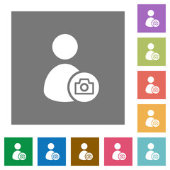 Account profile photo square flat icons