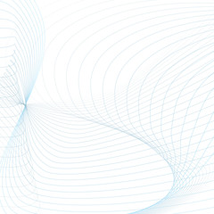 Abstract wavy background with text place. Technology modern template in light blue and gray tones. Vector waving line art concept for sci-tech design. Futuristic wave pattern. EPS10 illustration