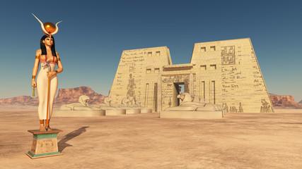 Tempel des Horus von Edfu und Göttin Hathor