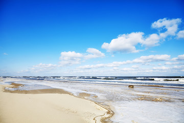 Picture of an empty beach in winter