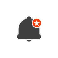 Notification icon with star sign. Notification icon and best, favorite, rating symbol