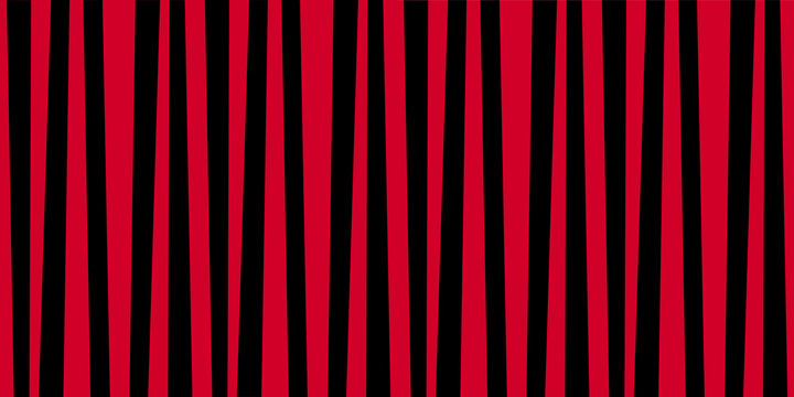 Cute pattern banner with red and black vertical stripes.