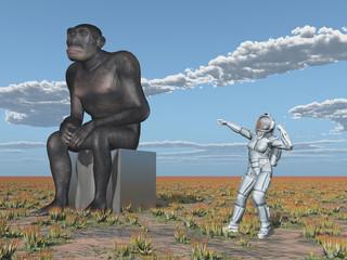 Homo habilis und Astronautin - Die Evolution des Menschen