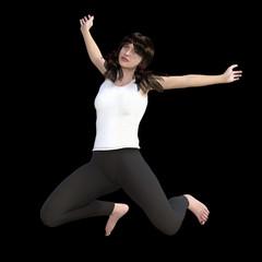 Springendes Mädchen, Freisteller
