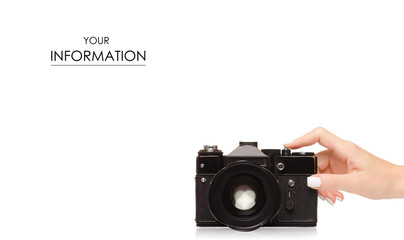 Camera old black in hand pattern