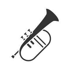 Flugelhorn glyph icon