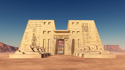 Tempel des Horus von Edfu in Ägypten