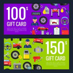 Vector gift discount card car service