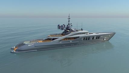 Luxusyacht im offenen Meer