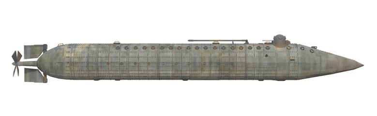 Unterseeboot aus dem amerikanischen Bürgerkrieg, Freisteller