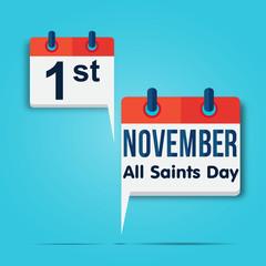 calendar : 1st november all saint's day