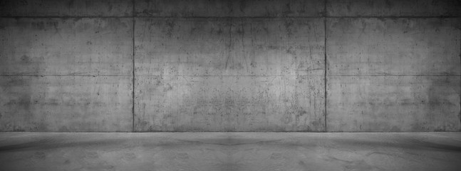 Foto op Canvas Betonbehang Wide concrete background wall texture for composing