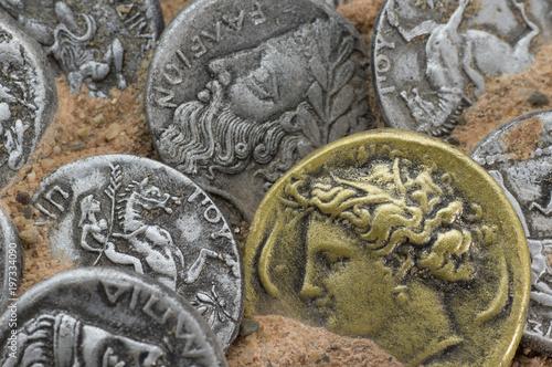 Antike Griechische Münzen Stockfotos Und Lizenzfreie Bilder Auf