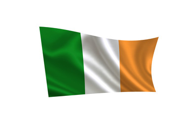 """Ireland flag. A series of """"Flags of the world."""" ( The country - Ireland)"""