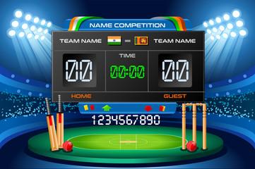 Cricket scoreboard vector background