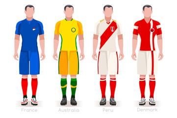Russia 2018 World Cup Group C Team Uniform Jersey