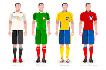 Russia 2018 World Cup Group F Jersey Set
