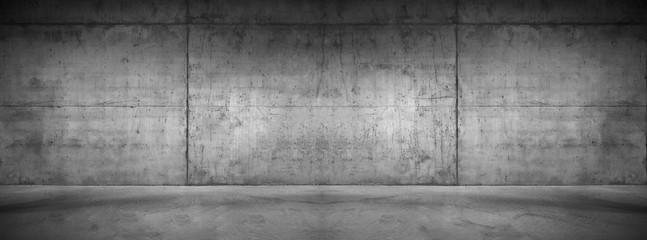 Moderne Betonmauer Hintergrund Textur Graue breite Steinwand mit Boden