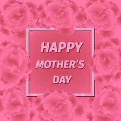 Mother s day greeting card with carnation flowers.