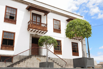 Beautiful traditional house in Orotava, Tenerife Island, Spain