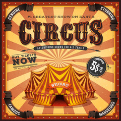 Vintage Square Circus Poster