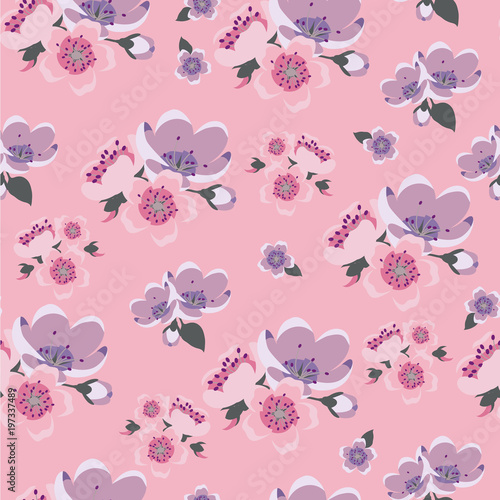 Cute Vintage Pattern With Plain Colors For Textile Packaging Wallpaper