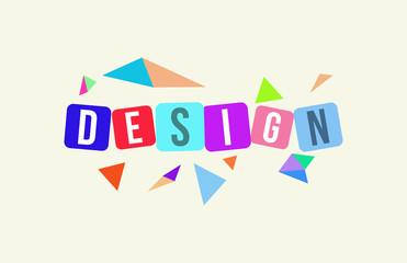 DESIGN Colorful Vector Letter  Alphabet Illustration Square Layout