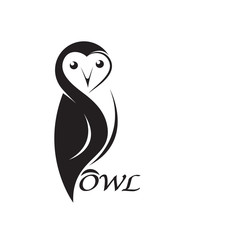 Vector of an owl design on white background. Bird. Animals. Easy editable layered vector illustration.