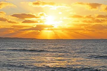 銚子の朝の海
