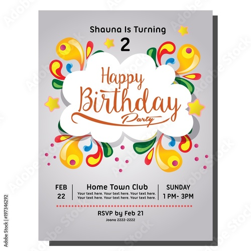 2nd Birthday Party Invitation Card