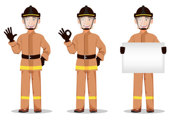 Fireman cartoon character