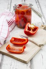 Pickled roasted paprika