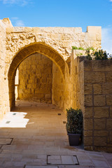 Ancient archway of The Citadel, Victoria, Gozo.