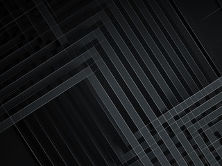 Abstract black background, geometric 3d
