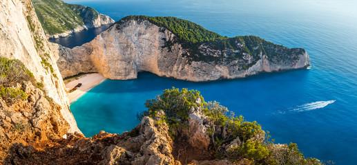 Most Incredible Navagio Beach or Shipwreck Beach. Zakynthos, Greece