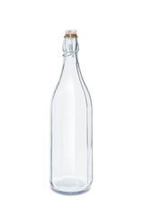Empty vintage bottle isolated on white background