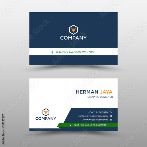 Blue vector business card template stock image and royalty free blue vector business card template accmission Gallery
