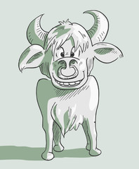 Stier vector illustratie