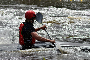 Canoepolo championship on the canal