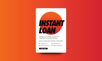 Instant Loan Poster Template Text Box Design With Apply Button
