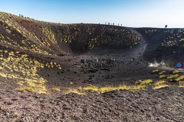 Mount Etna, volcano located in Sicily, Italy