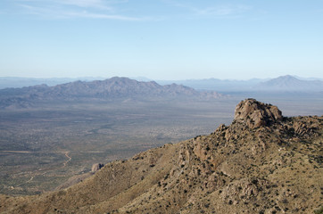 Quinlan Mountains and Sonoran Desert