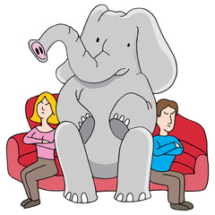 Elephant in Room Relationship Problems