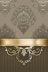 Wall Mural - Decorative luxury background with vintage patterns.