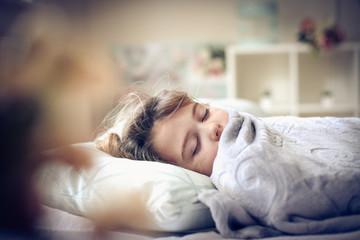 Sleepy little girl.