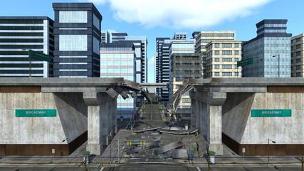 高速道路の崩落