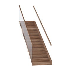 Staircase on a white background. Isolate. 3D rendering.